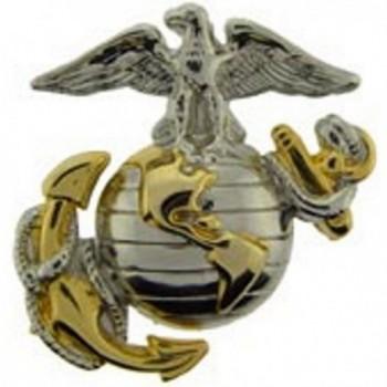 US Marine Corps Emblem- E2- Left Cap Gold Silver USMC Lapel Hat Pin - CR11HCBYLP7