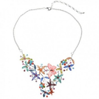Elegant Colorful Butterfly Necklace Earrings