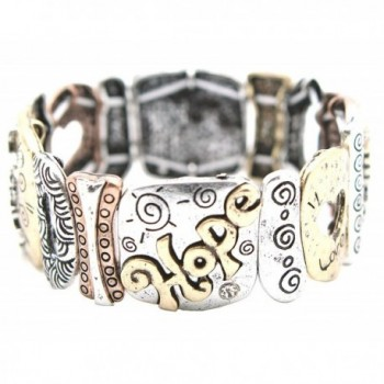 Faith Corinthians Texturee Stretch Bracelet