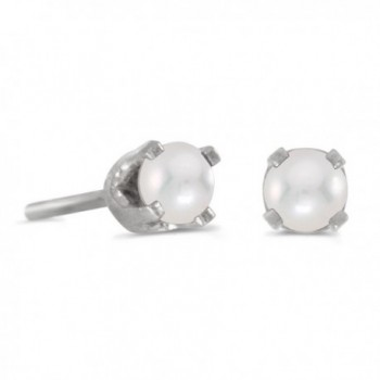 3 mm Petite Round Genuine Gemstone Stud Earrings in 14k Yellow or White Gold - CD183974KRR