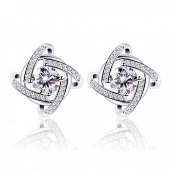 B.Catcher Stud Earrings Windmill Shape 925 Sterling Silver Earrings - CY1867X5T9D