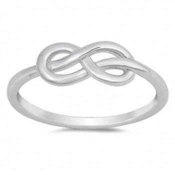 Infinity Knot Criss Cross Love Promise Ring .925 Sterling Silver Band Sizes 4-10 - CC12O4DC03B