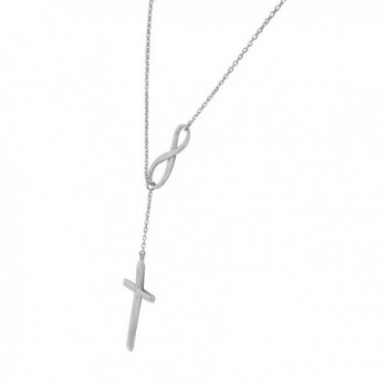 Sterling Infinity Religious Pendant Necklace
