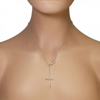 Sterling Infinity Religious Pendant Necklace in Women's Pendants
