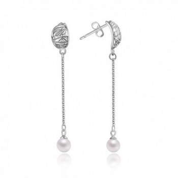 Birthday Handmade Jewelry Sterling Earrings - Pearl Earrings - CR183O8K3QM