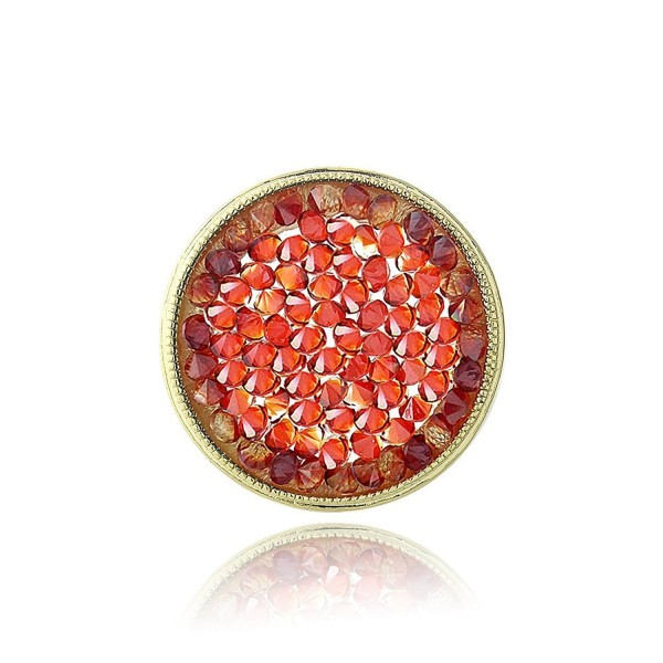 Bria Lou Flashed Swarovski Crystals - Red - CY1289GBPG1