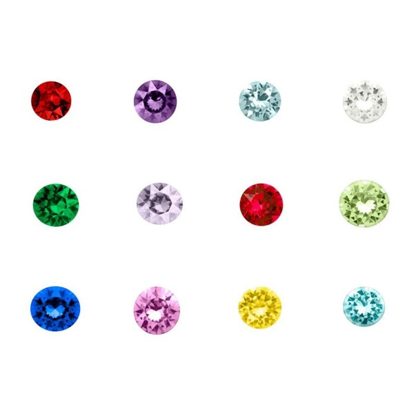 Q&Locket 12 Colors Heart/Round/Star Floating Charms For Living Memory Locket Necklace - Round Shaped - C212KIXSO03