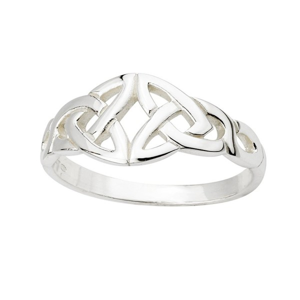 Trinity Knot Ring Sterling Silver Irish Made Size 6.5 - CT118FVYKUJ