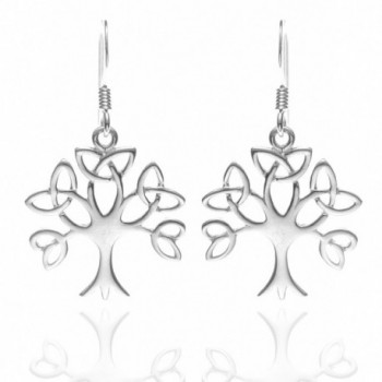 Sterling Silver Celtic Trinity Earrings
