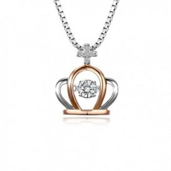 T400 Jewelers Sterling Necklace Swarovski - CU12FKERTJR