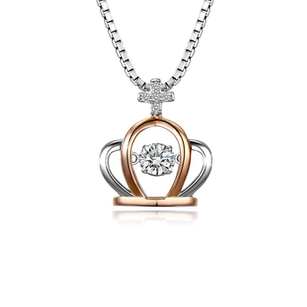 T400 Jewelers Sterling Necklace Swarovski - CU12FKERTJR