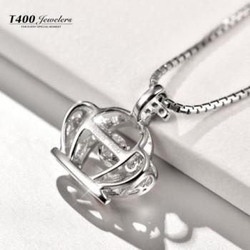 T400 Jewelers Sterling Necklace Swarovski in Women's Pendants