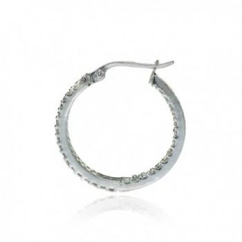 Sterling Silver Zirconia Inside Out Earrings
