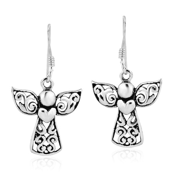 Guardian Angel of Love .925 Sterling Silver Dangle Earrings - CH1895GZ9XM