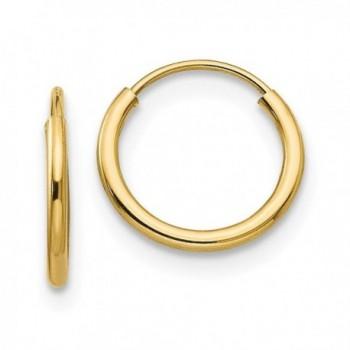 Madi K 14K Yellow Gold Endless Hoop Earrings (Approximate Measurements 10mm x 10mm) - CA11DQUDI43
