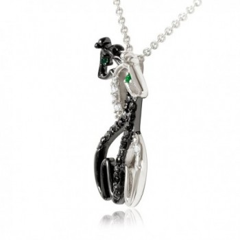 Rhodium Hugging Giraffe Pendant Eyes 18 in Women's Pendants
