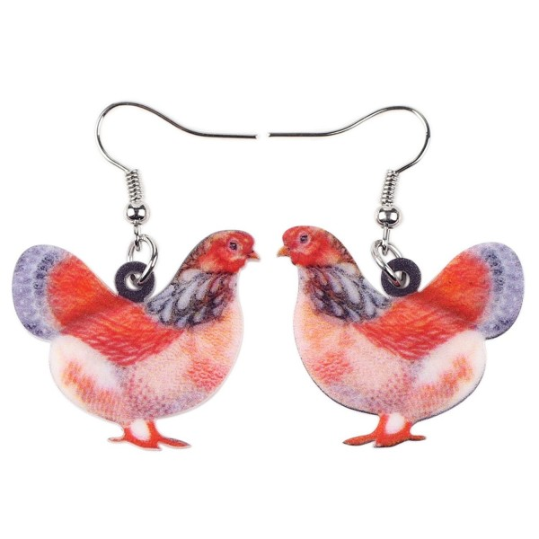 Acrylic Drop Chicken Earrings 2016 News Design Lovely Gift For Girl Women By The Bonsny - CF12IWDIQN1