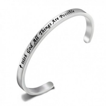 SEIRAA Possible Religious Christian Inspirational - cuff bangle - CR188Z9Q3SU
