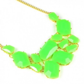 Womens Acrylic Cluster Necklace Jewelry