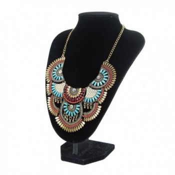Miraculous Garden Bohemian Necklace Turquoise in Women's Choker Necklaces