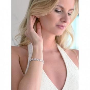 Mariell Tennis Bracelet Pear Shaped Zirconia in Women's Tennis Bracelets