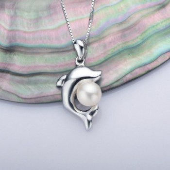 Dolphin Necklace Freshwater Cultured Sterling in Women's Pendants
