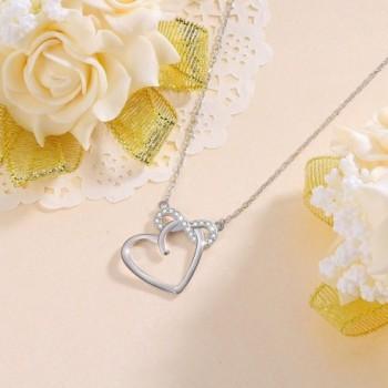 Sterling Infinity Zirconia Pendant Necklace in Women's Pendants