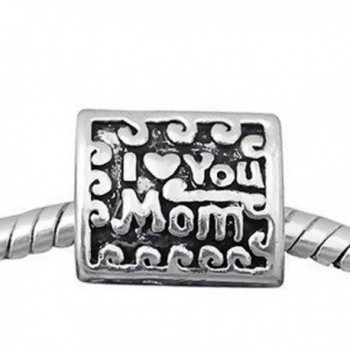I Love You Mom 3 Sided Charm For Snake Chain Charm Bracelet - CZ11ILMOKH5