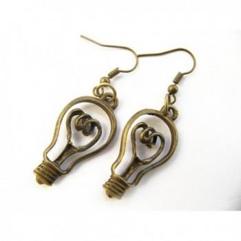 Lightbulb Earrings Teachers Science Jewelry in Women's Drop & Dangle Earrings