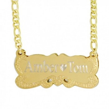 18k Gold Plate Personalized Name Necklace -Custom Made Any Name - C9127UMNQI5
