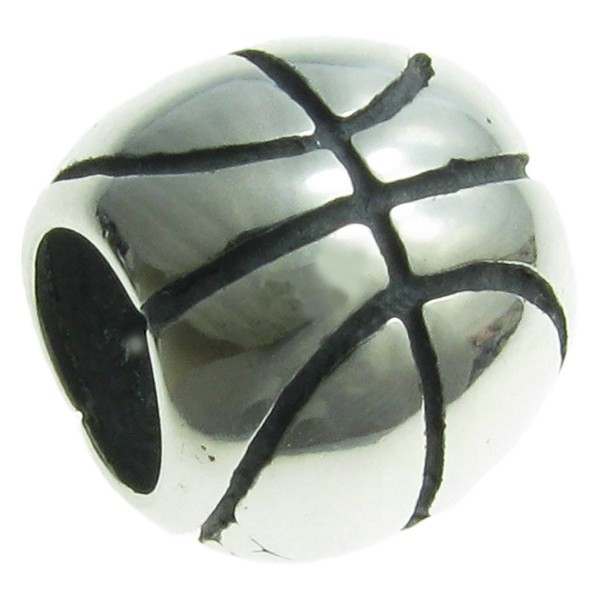 Sterling Silver Basketball European Style Bead Charm - C6115XS2TJB