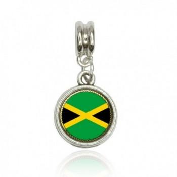 Flag of Jamaica Euro European Italian Style Bracelet Bead Charm - CO11L4T0PIF