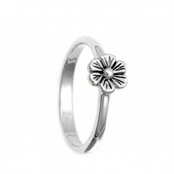 Sterling Silver Womens Simple RNG12731 11 in Women's Band Rings