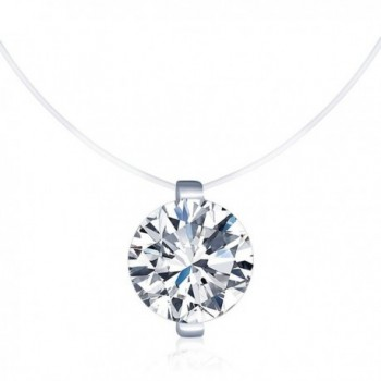 Infinite Solitaire Necklace Sterling Invisible - CD17YK3KDUM