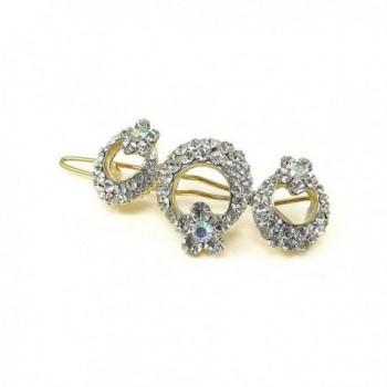 Glamorousky Elegant Flower Barrette with Silver Austrian Element Crystal (303) - CW118SODA5X