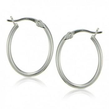 Sterling Silver Polished Dainty Earrings in Women's Hoop Earrings