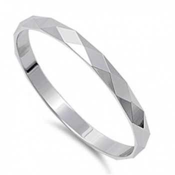 Solid Diamond Cut 2mm Band .925 Sterling Silver Ring Sizes 3-14 - CP11TP264DD