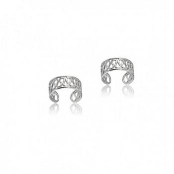 Sterling Silver Polished Filigree Small Swirl Clip On Ear Cuff - CM187IXDQK7