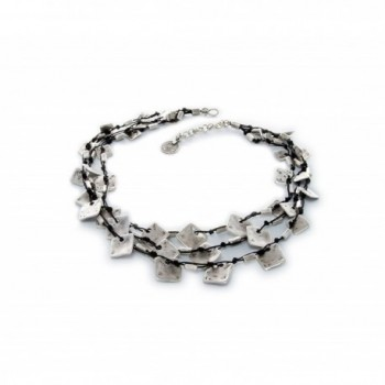 "Fashion Jewelry 2017 Collection - Silver plated antique hand crafted - Necklace 19"" to 20"" length - 1033 - CH17YGEN7LI"