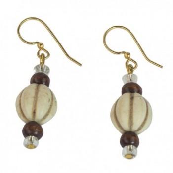 NOVICA Brass Glass Beaded Earrings