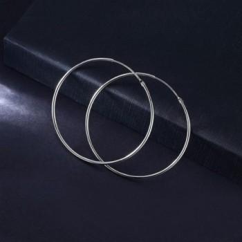 T400 Jewelers Sterling Polished Earrings in Women's Hoop Earrings