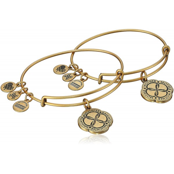 01c94f04d114c8 Alex and Ani Mom And Daughter Infinite Connection Set of Two Bangle Bracelet  - Rafaelian Gold