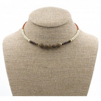 DennyBlaine Co Simulated Structured Necklace