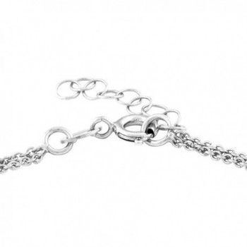 """Sterling Silver 9"""" + 1"""" Extension Infinity Figure 8 Double Strand Anklet - CU11M5HTAKN"""