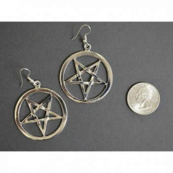 Inverted Pentacle Medieval Renaissance Earrings