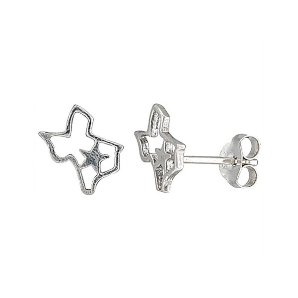 Tiny Sterling Silver Texas Stud