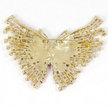 EVER FAITH Gold Tone Butterfly Austrian in Women's Brooches & Pins