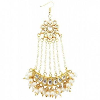Mehrunnisa Traditional Kundan Pearls Jhoomar Passa For Women (JWL1410) - CO12O1C1X0S