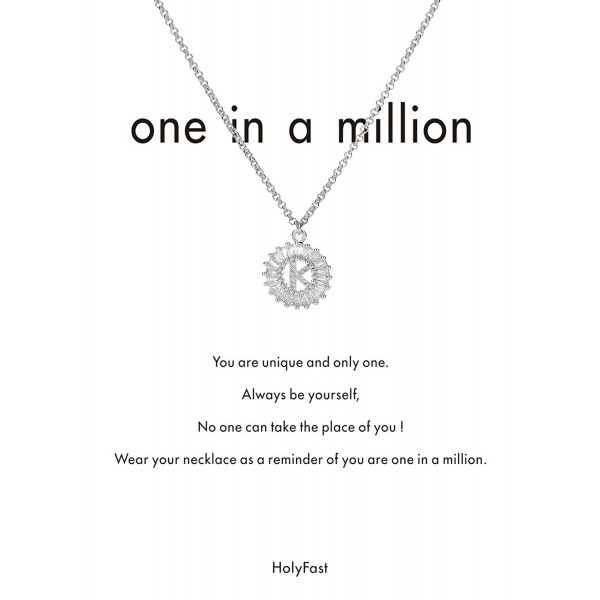 HolyFast Necklace Message Million Zirconia - Initial K - CX189IE8OUM