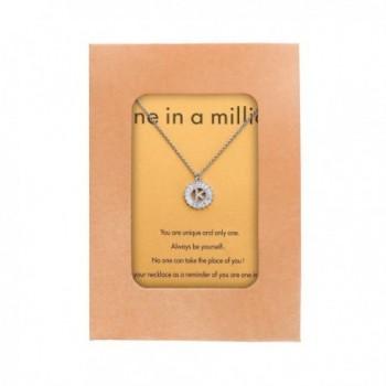 HolyFast Necklace Message Million Zirconia in Women's Pendants
